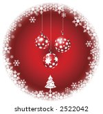 christmas ornaments hanging in... | Shutterstock .eps vector #2522042