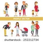 parents with kids | Shutterstock .eps vector #252212734