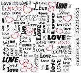 vector valentine pattern with... | Shutterstock .eps vector #252214231