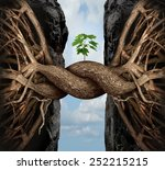 unity growth concept and bridge ... | Shutterstock . vector #252215215