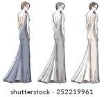fashion hand drawn illustration....   Shutterstock .eps vector #252219961