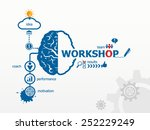 workshop concept. hand writing... | Shutterstock .eps vector #252229249