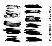vector drawing clear black... | Shutterstock .eps vector #252235909