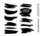 vector drawing a clear black... | Shutterstock .eps vector #252235915