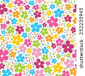 Cute Spring Flowers And Dots...