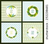 vector set of fresh green... | Shutterstock .eps vector #252238681