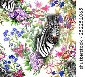 floral seamless pattern on...   Shutterstock .eps vector #252251065