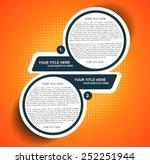 vector orange background... | Shutterstock .eps vector #252251944