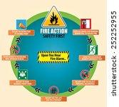 fire action emergency procedure ... | Shutterstock .eps vector #252252955
