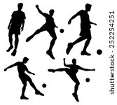 silhouette of soccer football... | Shutterstock . vector #252254251