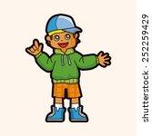 hip hop dancer theme elements | Shutterstock .eps vector #252259429