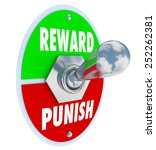 reward and punish words on a... | Shutterstock . vector #252262381