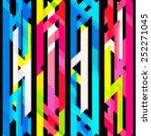 bright neon seamless pattern... | Shutterstock .eps vector #252271045