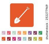 the shovel icon. spade symbol.... | Shutterstock .eps vector #252277969