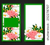 set of invitations with floral... | Shutterstock . vector #252278707