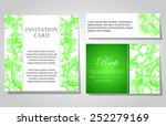 set of invitations with floral... | Shutterstock .eps vector #252279169