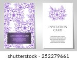 set of invitations with floral... | Shutterstock .eps vector #252279661