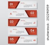design clean number banners... | Shutterstock .eps vector #252290959