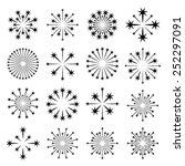 vector starbursts black symbols | Shutterstock .eps vector #252297091