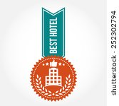 simple vintage best hotel badge | Shutterstock .eps vector #252302794