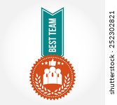 simple vintage best team badge | Shutterstock .eps vector #252302821