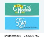 big sale website header or... | Shutterstock .eps vector #252303757