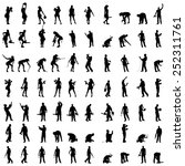 vector silhouette of a people... | Shutterstock .eps vector #252311761
