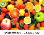 Mix Fruits Background.fresh...