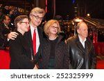 Small photo of BERLIN, GERMANY - FEBRUARY 12, 2015: Actors Ruediger Vogler, Lisa Kreuzer, director Wim Wenders and actress Yella Rottlaender attend 'The American Friend' during the 65th Berlinale