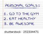 fitness lifestyle  list of new... | Shutterstock . vector #252334471