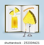 pineapple juice.vector... | Shutterstock .eps vector #252334621