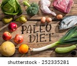 raw healthy dieting products... | Shutterstock . vector #252335281