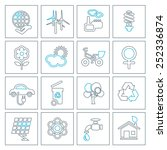 thin line ecology icons set....   Shutterstock .eps vector #252336874