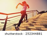 healthy lifestyle sports woman... | Shutterstock . vector #252344881