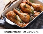 Chicken Legs With Rosemary In ...