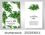 set of invitations with floral... | Shutterstock .eps vector #252353011