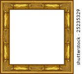 a picture frame on a white | Shutterstock . vector #25235329