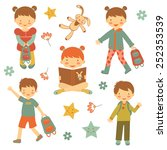 colorful collection of... | Shutterstock .eps vector #252353539