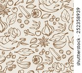 spices seamless background | Shutterstock .eps vector #252358939