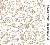 spices seamless background | Shutterstock .eps vector #252358981