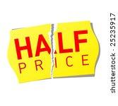 half price sticker. vector.   Shutterstock .eps vector #25235917