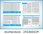 set of layout magazine.... | Shutterstock .eps vector #252360229