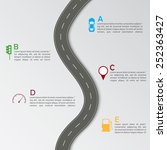 road infographic template | Shutterstock .eps vector #252363427