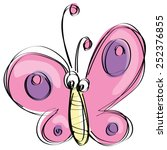 Cute Pink And Purple Butterfly...