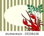 vector red lobster background | Shutterstock .eps vector #25238128