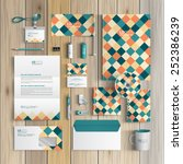 vintage corporate identity... | Shutterstock .eps vector #252386239