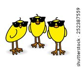 Three Cool Yellow Chicks...