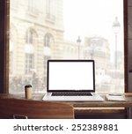 3d rendering of workspace | Shutterstock . vector #252389881