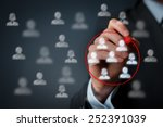 marketing segmentation ... | Shutterstock . vector #252391039
