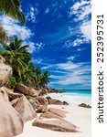 tropical beach. the seychelles | Shutterstock . vector #252395731
